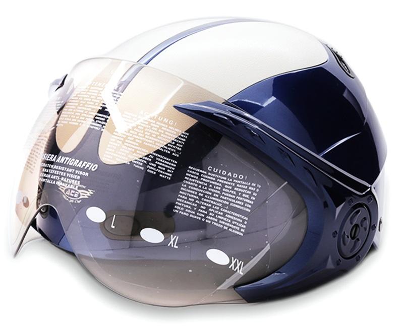 Mũ Bảo Hiểm 1/2 Đầu Có Kính ACE M-1