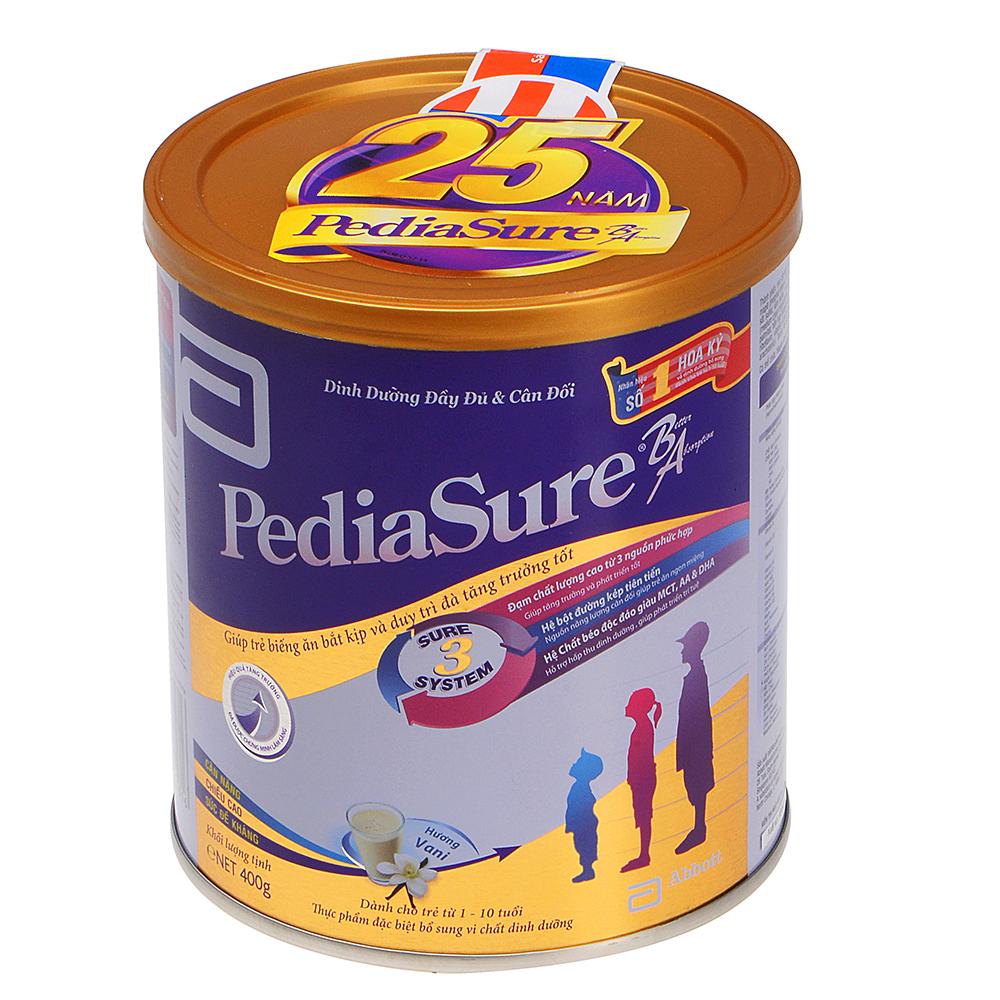 Sữa Bột Abbott Pediasure B/A PCS Dành Cho Trẻ Từ 1 – 10 Tuổi (400g)