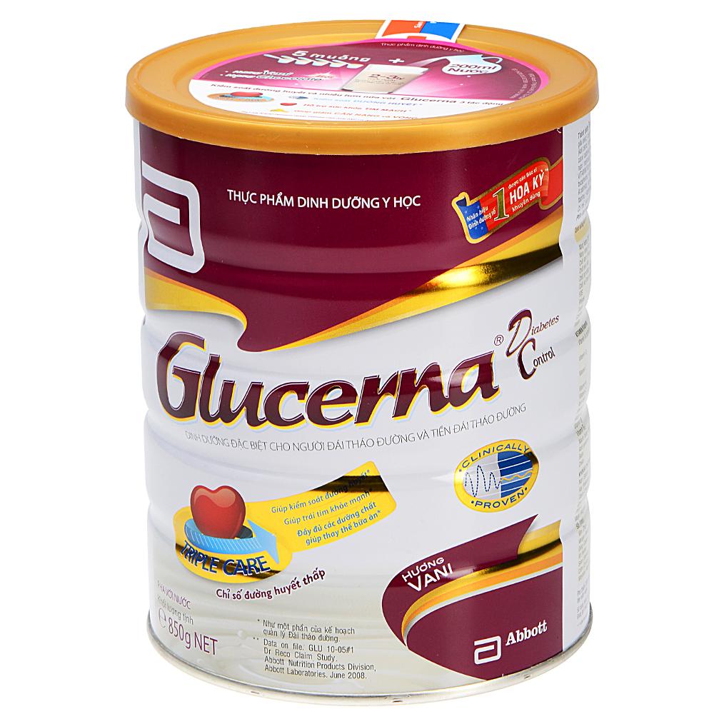 Sữa Bột Abbott Glucerna GLVLA Dành Cho Người Đái Tháo Đường Và Tiền Đái Tháo Đường (850g)