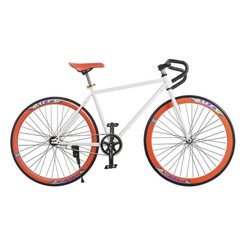 Xe Đạp Fixed Gear Single Cổ Sừng Dê Sportslink - Trắng Phối Cam