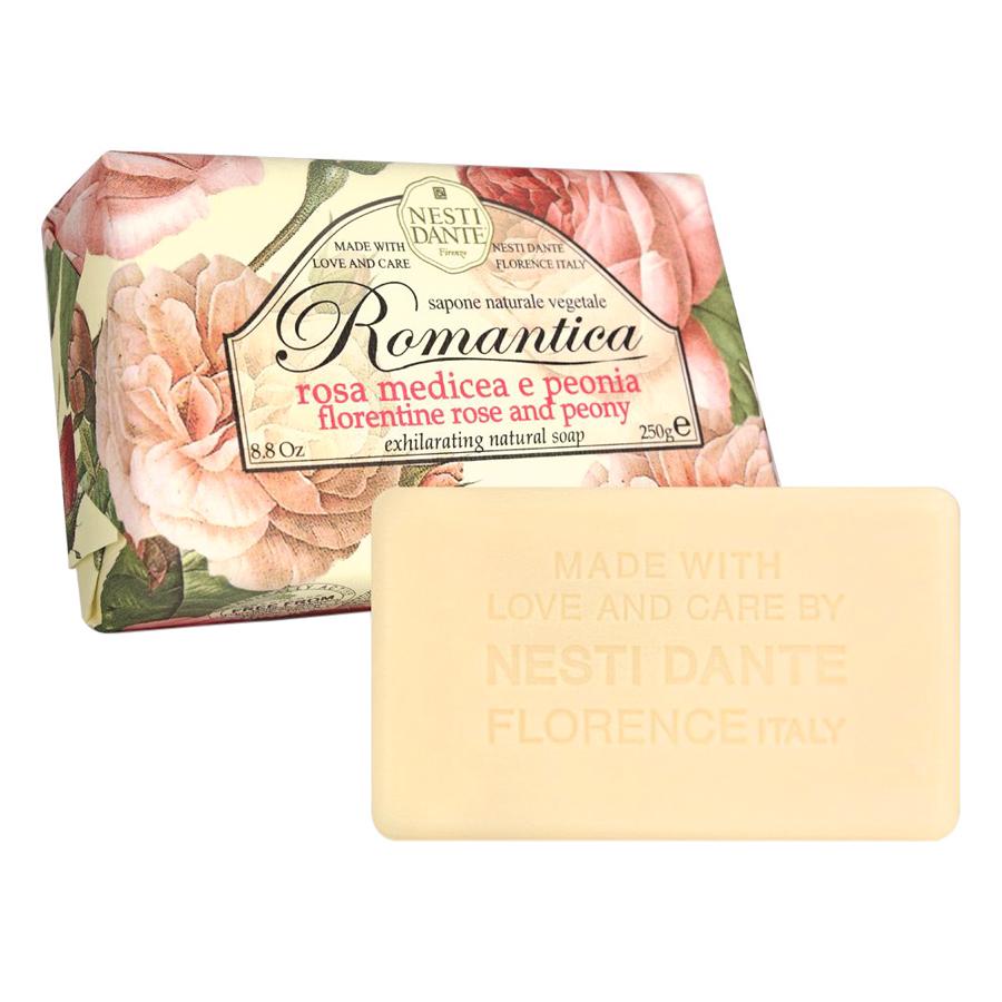 Xà Phòng Tắm Nesti Dante Hoa Hồng Và Mẫu Đơn Romantica Florence Rose & Peony (250g)