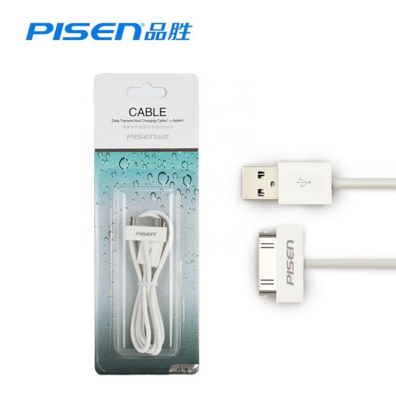 Cáp Pisen Iphone 4/4S 800mm - Hàng Chính Hãng