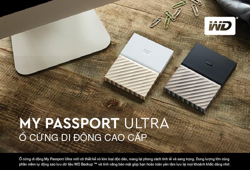 Ổ Cứng Di Động WD My Passport Ultra 3TB - Hàng Chính Hãng