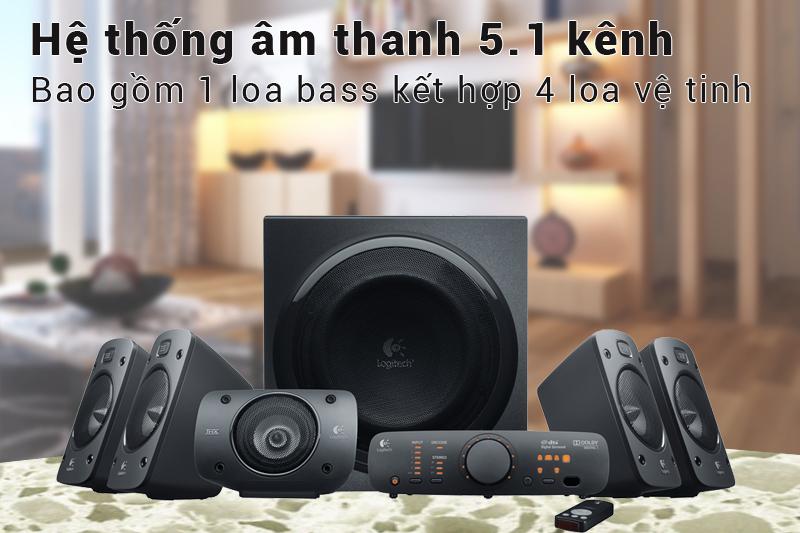 Loa Vi Tính Logitech Z906 5.1 1000W - Hàng Chính Hãng