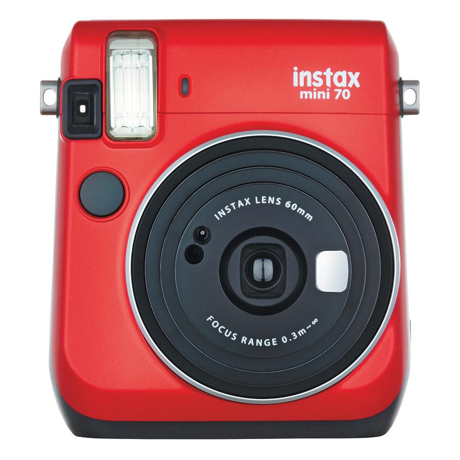 Máy Ảnh Selfie Lấy Liền Fujifilm Instax Mini 70 - Đỏ - Hàng Chính Hãng
