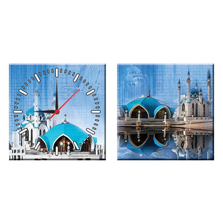 Tranh Đồng Hồ Treo Tường Bộ Đôi Thế Giới Tranh Đẹp Q22-OM-028-DH