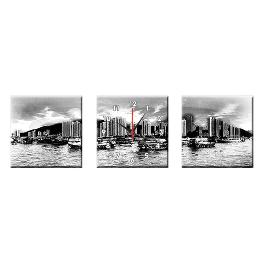 Tranh Đồng Hồ Treo Tường Bộ Hai Thế Giới Tranh Đẹp Q22-OM-365-DH