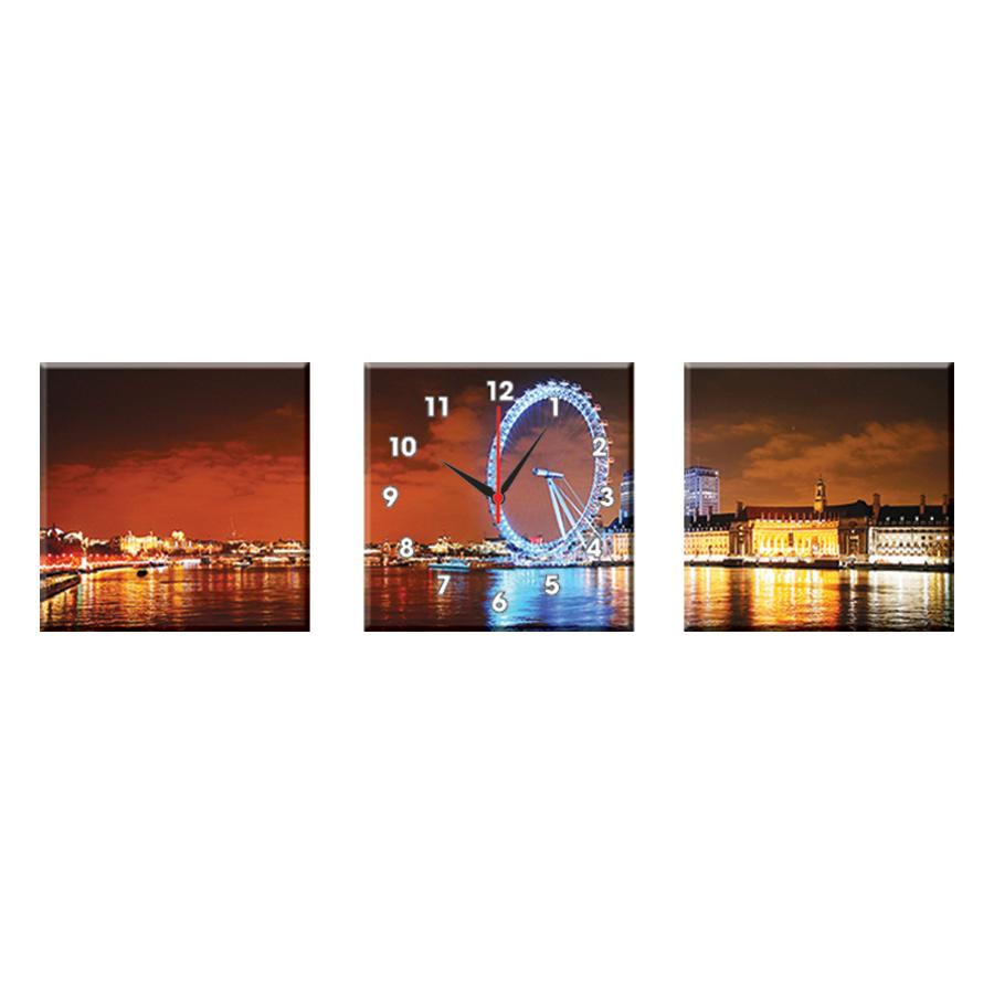 Tranh Đồng Hồ Treo Tường Bộ Đôi Thế Giới Tranh Đẹp Q22-OM-404-DH