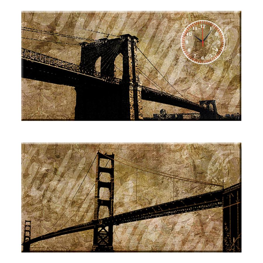 Tranh đồng hồ treo tường NÉT ĐẸP CỔ ĐIỂN - Q22-OM-014-DH (30 x 60 cm) Thế Giới Tranh Đẹp