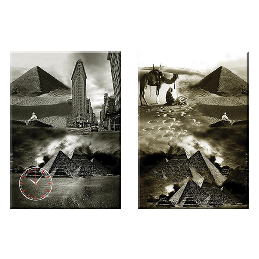 Tranh đồng hồ treo tường NHỮNG KÌ QUAN THẾ GIỚI - Q22-OM-140-DH (30 x 50 cm) Thế Giới Tranh Đẹp