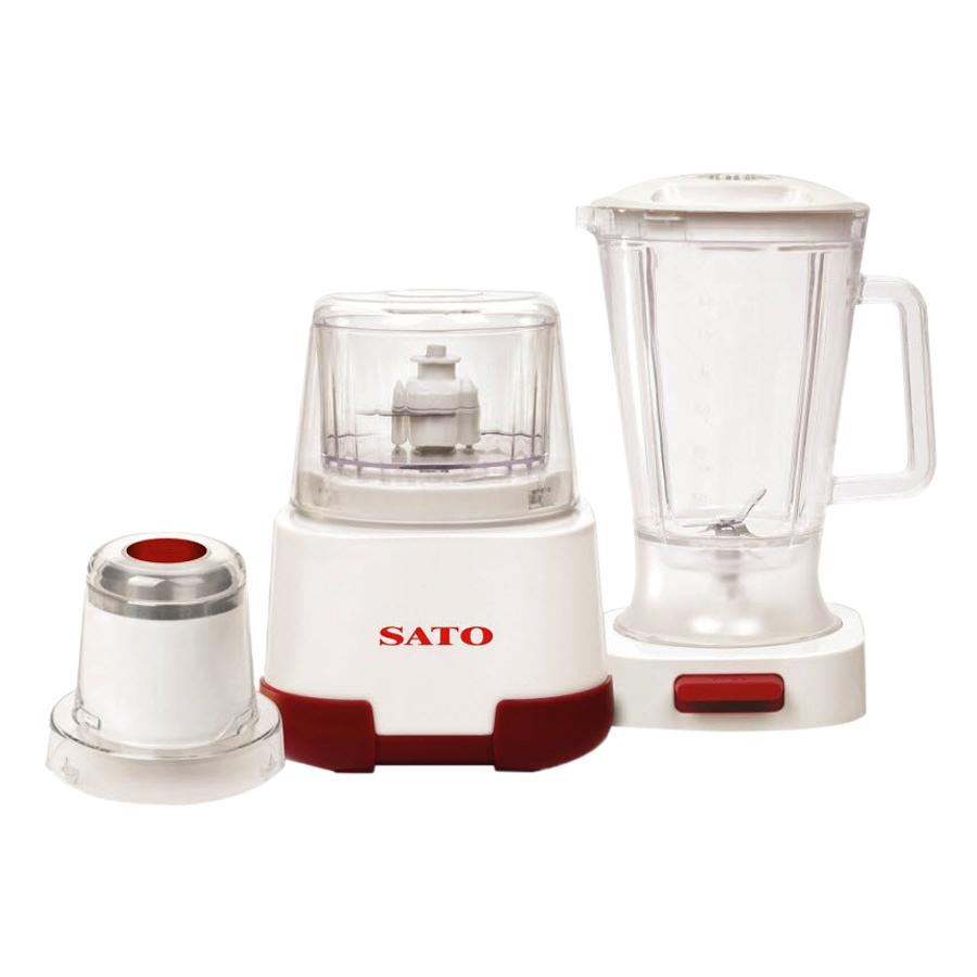 Máy xay sinh tố đa năng SATO MX5555 1.5L (Màu đỏ trắng) - Hàng chính hãng