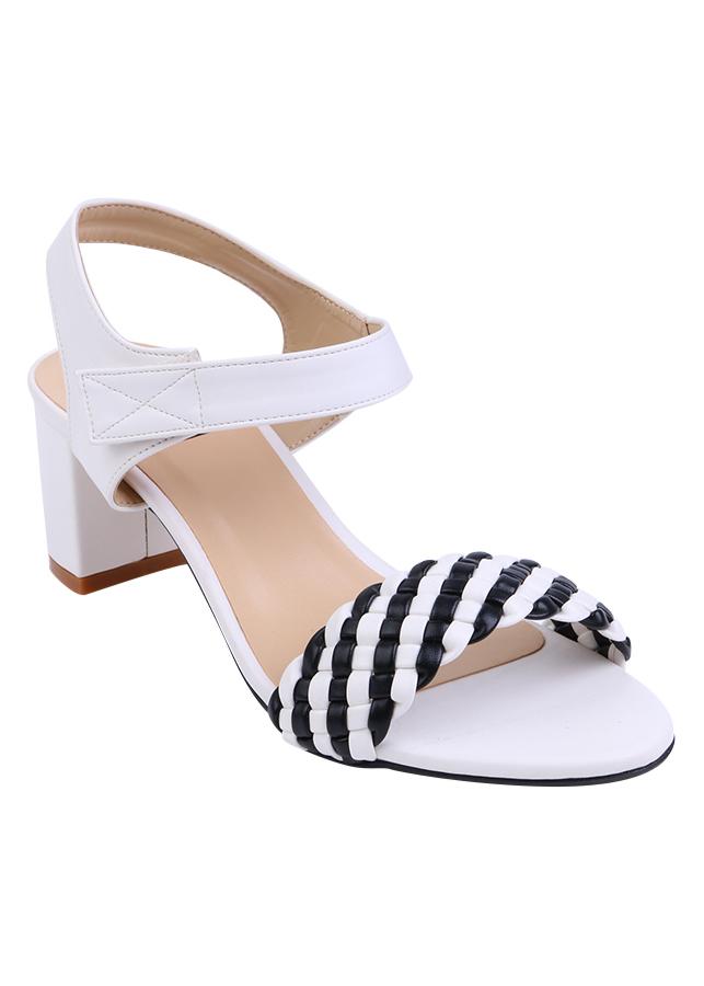 Giày Sandals Nữ Quai Bím Shinno 40001 A - Trắng