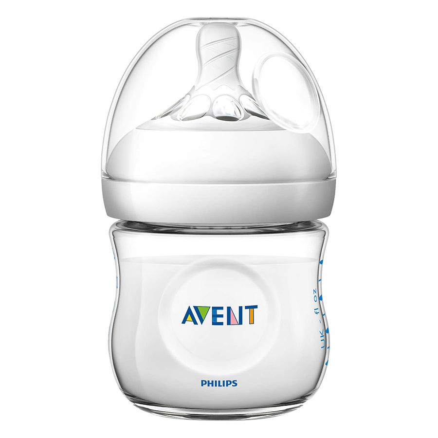 Bộ 2 Bình Sữa Bằng Nhựa Không Có BPA Tự Nhiên Philips Avent SCF690/23 (125ml x 2)