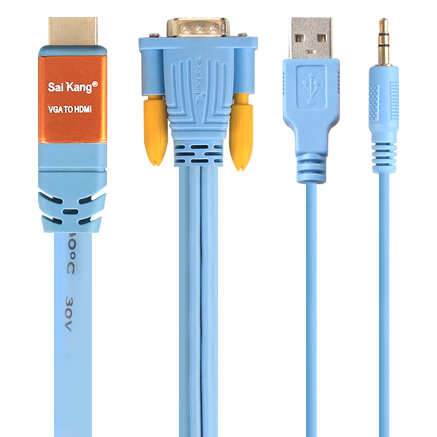 Cáp Chuyển Đổi VGA Sang HDMI Saikang 3m HDV02 SK-Z480