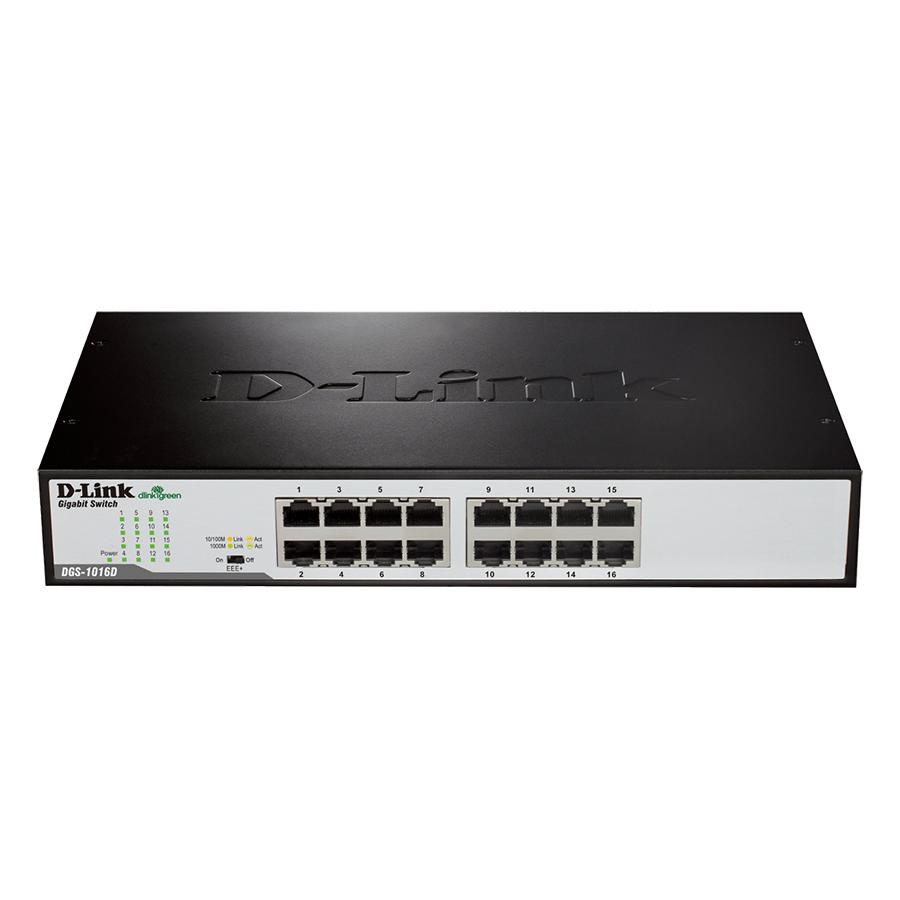 Bộ Chia Mạng Switch 16 Cổng 10/100/1000M D-Link DGS-1016C - Hàng Chính Hãng