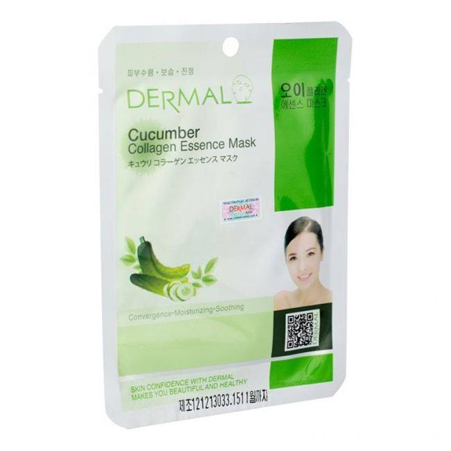 Mặt Nạ Dermal Tinh Chất Collagen Với Chiết Xuất Dưa Leo