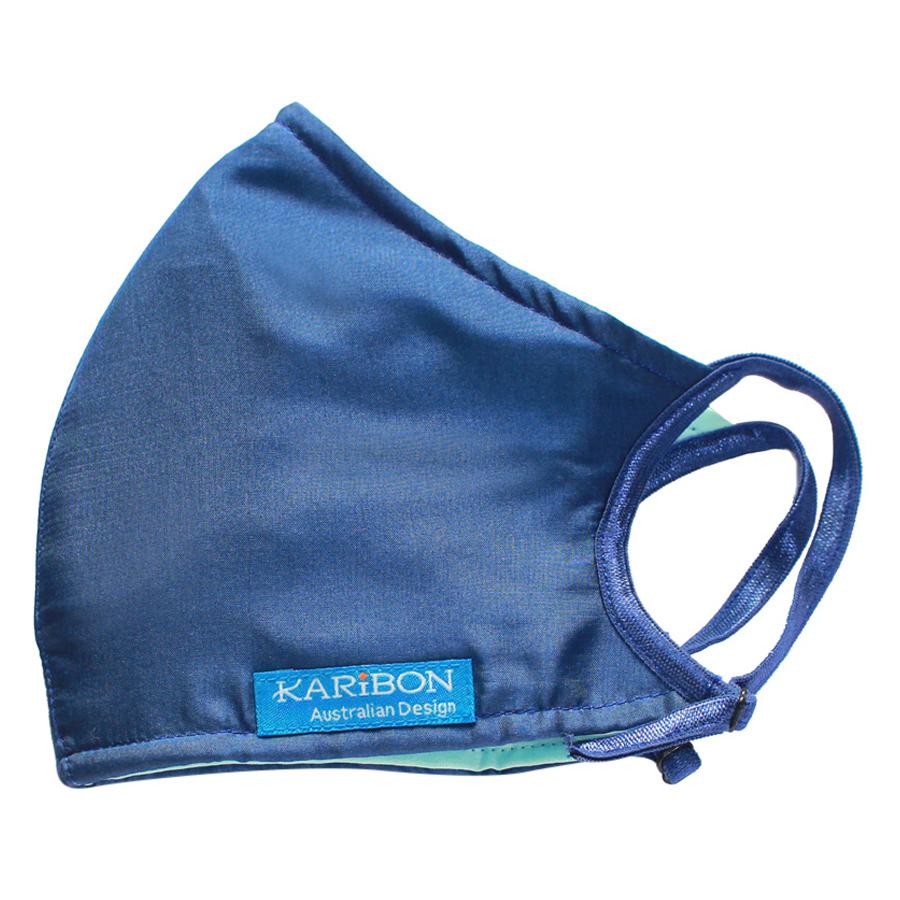 Khẩu Trang Karibon Silk Size M (Xanh Trơn)