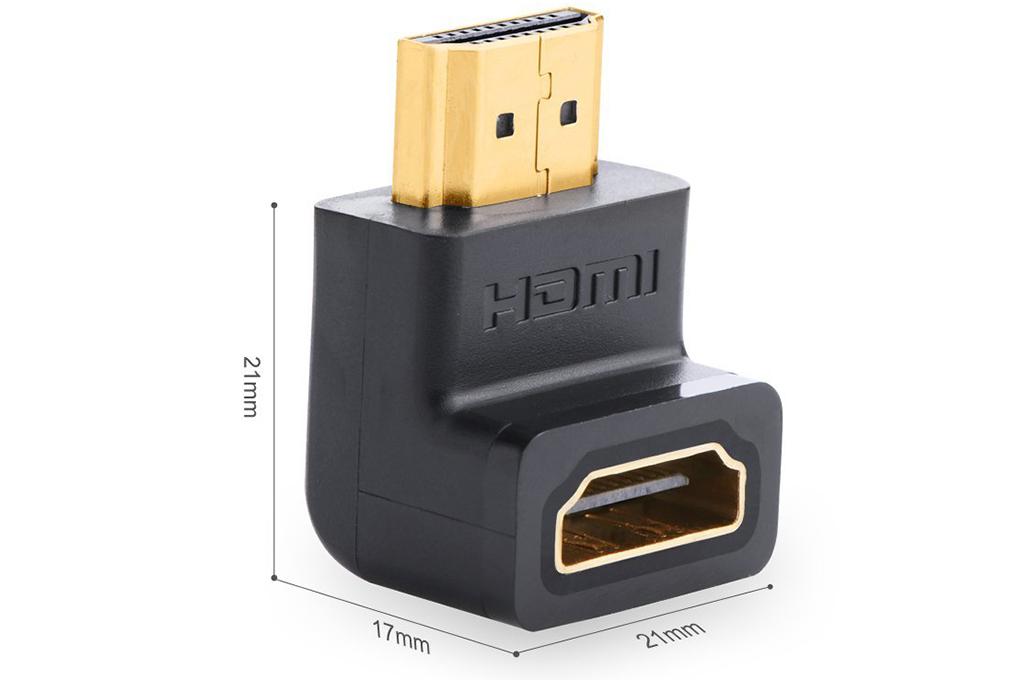 Đầu Nối HDMI Vuông Góc Bẻ Xuống Ugreen 20109 - Hàng Chính Hãng