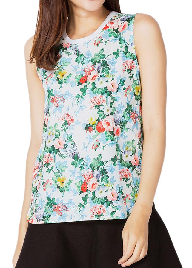 Áo Sát Nách NT Fashion Họa Tiết Hoa 1 204X - 01 (Freesize)