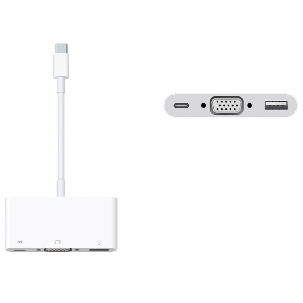 Dây Cáp Chuyển Đổi USB Type-C Sang USB / USB Type-C / VGA Apple VGA Multiport Adapter MJ1L2 - Hàng Chính Hãng