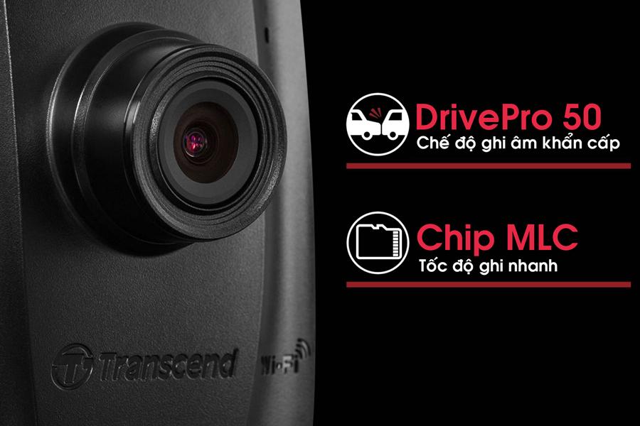 Camera Hành Trình Ô Tô Transcend Drive Pro 50