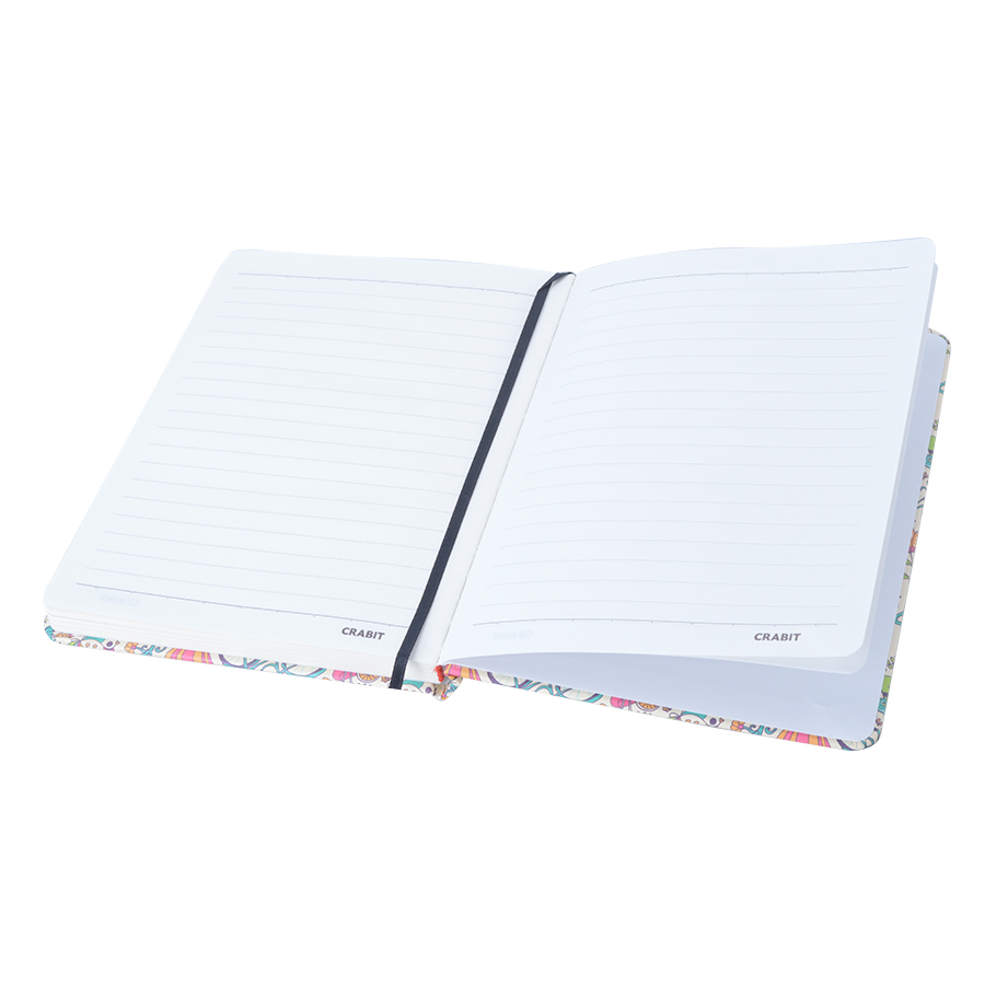 Sổ Tay Kẻ Ngang Crabit Notebuck La Fleur 1002a - Xanh (17.5 x 12.5 cm)