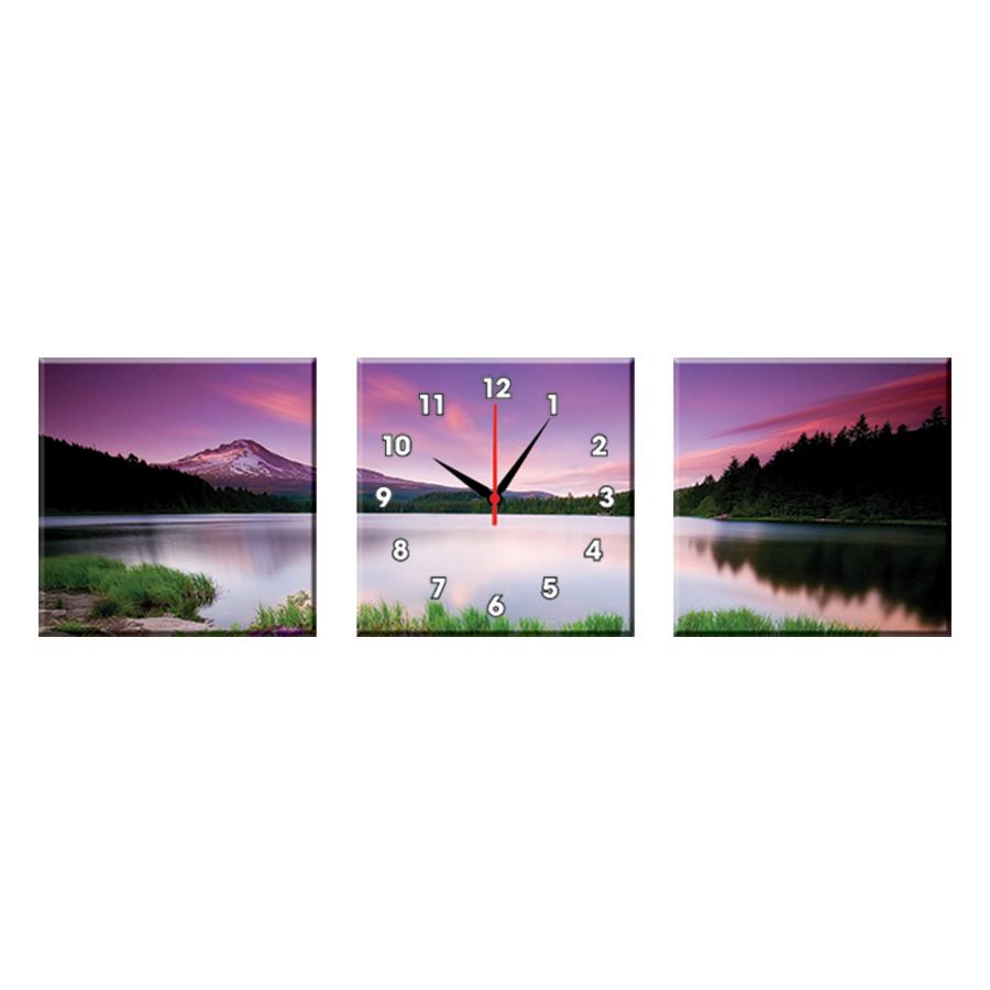 Bộ Ba Tranh Đồng Hồ Treo Tường Thế Giới Tranh Đẹp Q16-4-DH