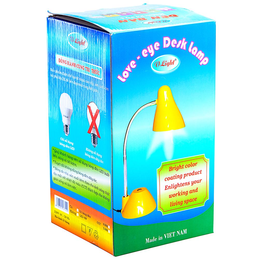 Đèn Bàn V-Light P-LED 6 (Trắng Ngọc Trai)