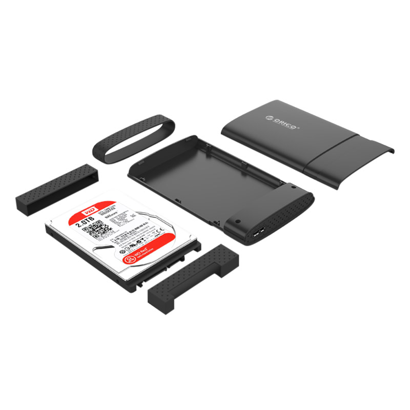 Hộp Đựng Ổ Cứng Di Động HDD Box ORICO 2538U3 USB3.0/2.5 Nhựa Cứng - Hàng Chính Hãng