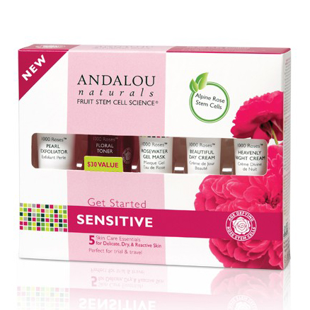 Combo 5 Sản Phẩm Andalou Naturals 1000 Roses™ Chăm Sóc Da Nhạy Cảm - 25530