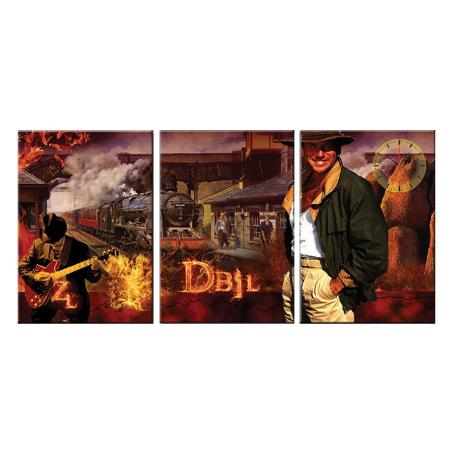 Tranh đồng hồ treo tường VẺ ĐẸP LÃNG TỬ - Q6D6_35DH(23) Thế Giới Tranh Đẹp