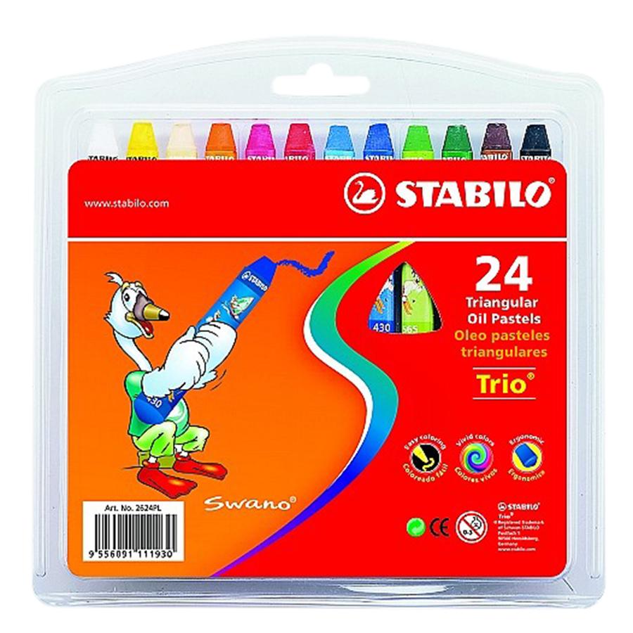 Bộ Bút Sáp Dầu Stabilo Trio OP2624