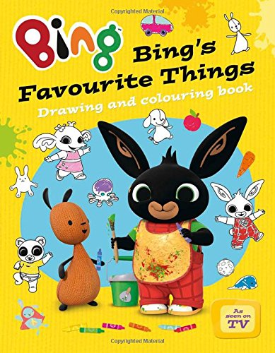 Sách tô màu Bing's Favourite Things Drawing And Colouring Book (Bing Series Book)