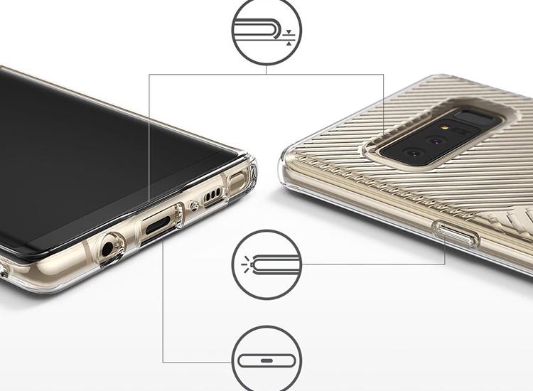 Ốp Lưng Samsung Galaxy Note 8 Ringke Bevel OLSGN8RKBEVEL - Hàng Chính Hãng
