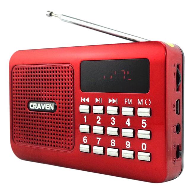 Loa Nghe Nhạc USB Thẻ Nhớ Craven CR-16 + Tặng 1 Cốc Sạc - Hàng Nhập Khẩu
