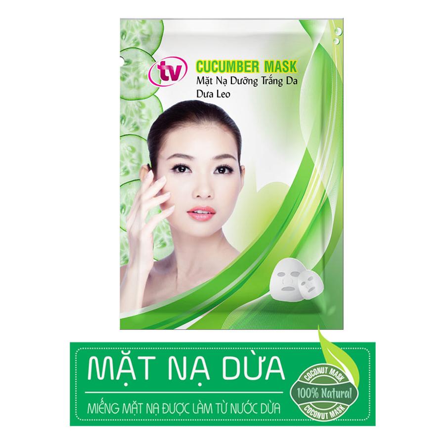 Hộp 5 Miếng Mặt Nạ Dừa Dưỡng Ẩm Chuyên Sâu TV Cucumber Mask TVCM-5
