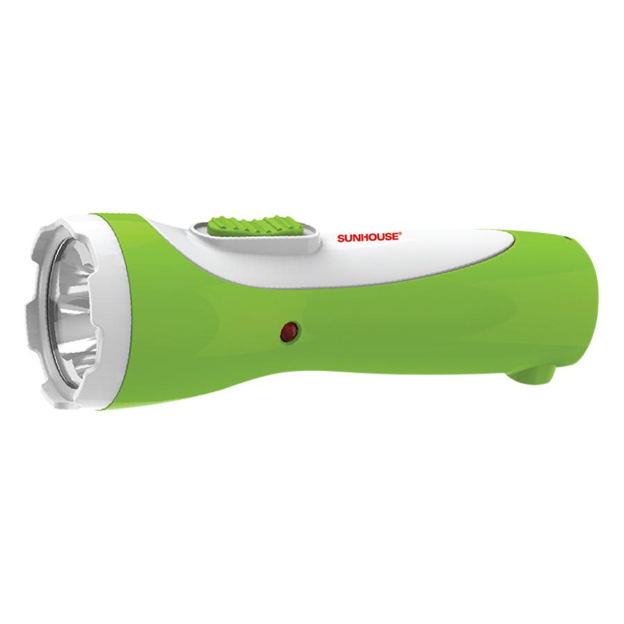 Đèn Pin Tay Cầm Cỡ Nhỏ Sunhouse SHE-4051 - Trắng Xanh Lá