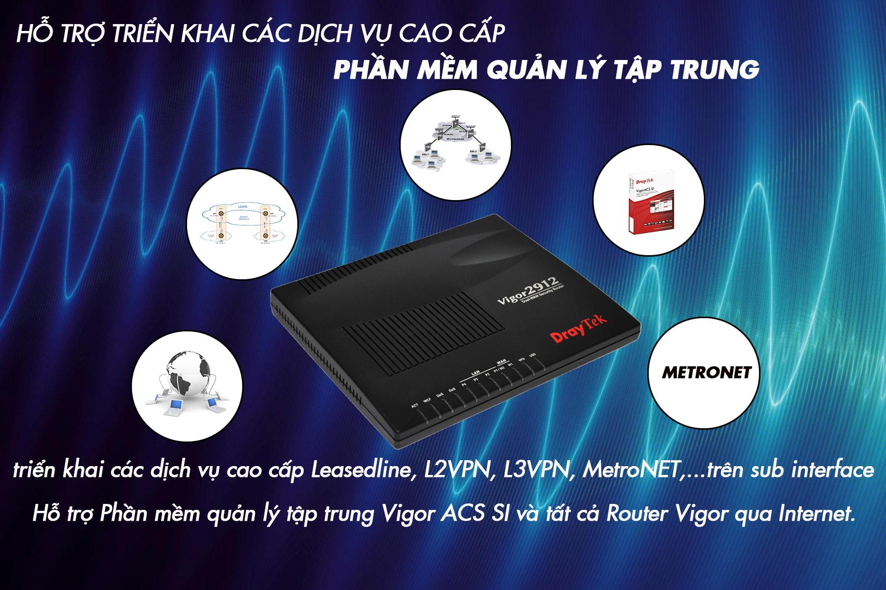 DrayTek Vigor2912 - Load Balancing Router