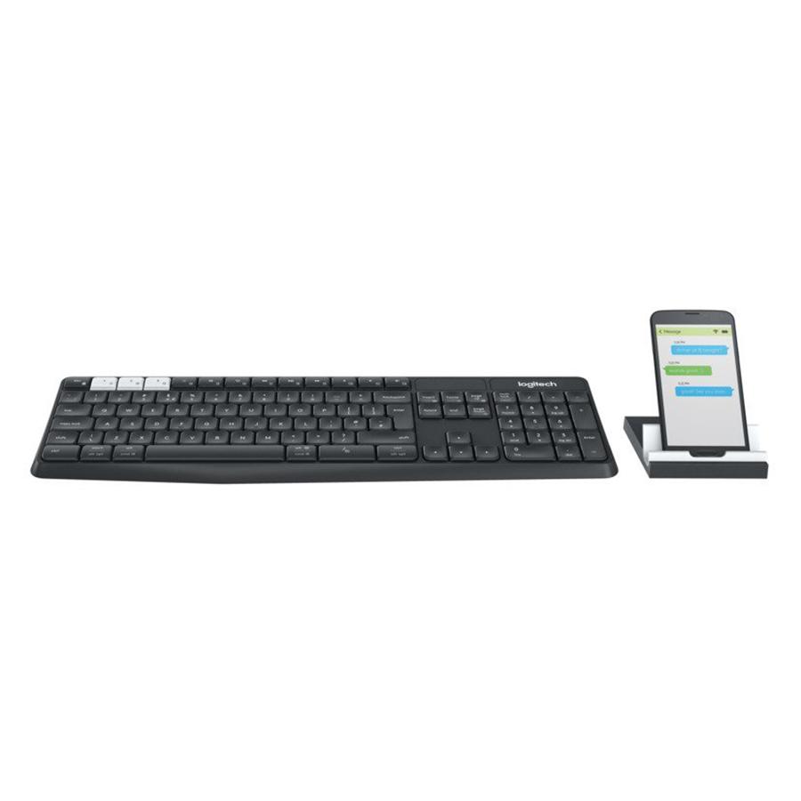 Combo Bàn Phím Bluetooth + Đế Để Điện Thoại Và Tablet Logitech K375s - Hàng Chính Hãng