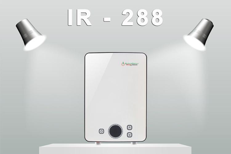 Máy Nước Nóng Hồng Ngoại SuperGreen IR-288 (8800W) - Trắng - Hàng Chính Hãng + Tặng Sen Tăng Áp
