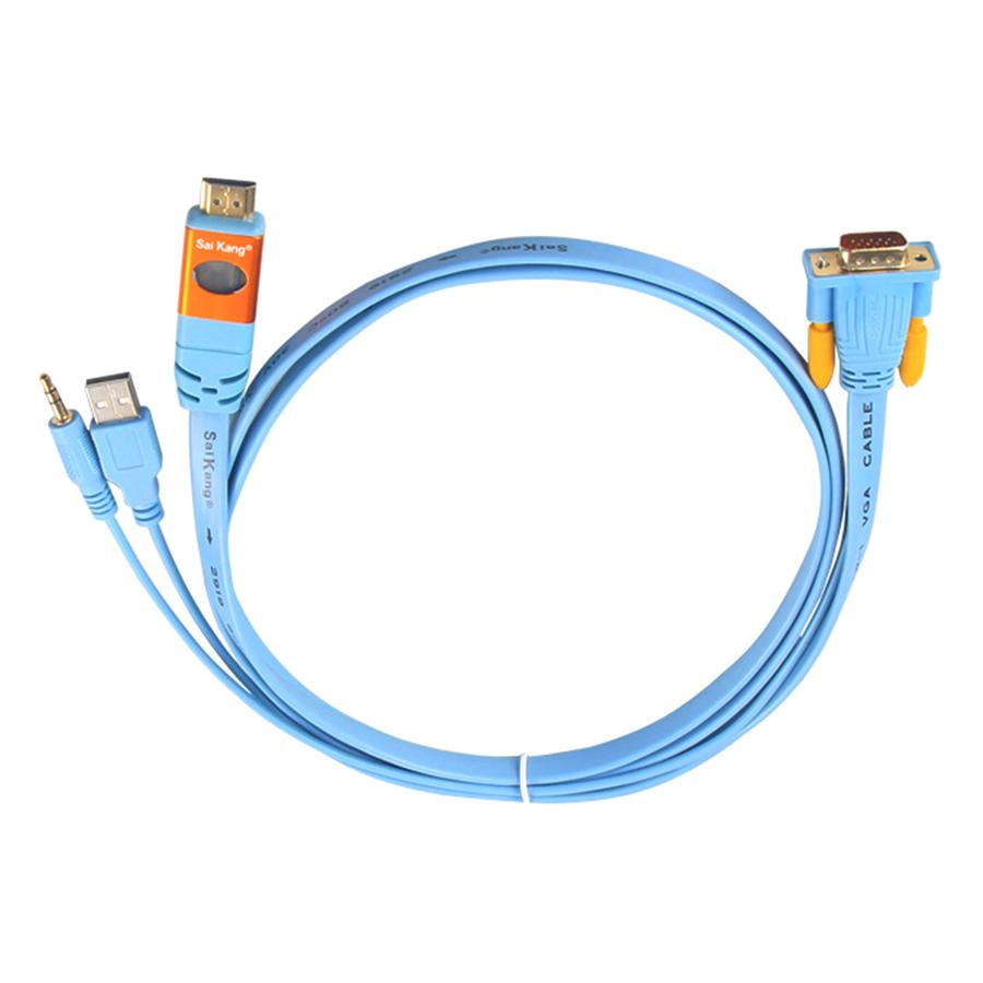 Cáp Chuyển Đổi VGA Sang HDMI Saikang 1.5m HDV02 SK-Z478 - Hàng nhập khẩu