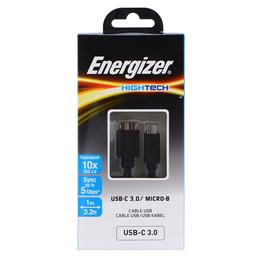 Cáp Sạc Type-C 3.0 To Micro-B Energizer C11C3MCGBK4 - Đen (1.2m) - Hàng chính hãng