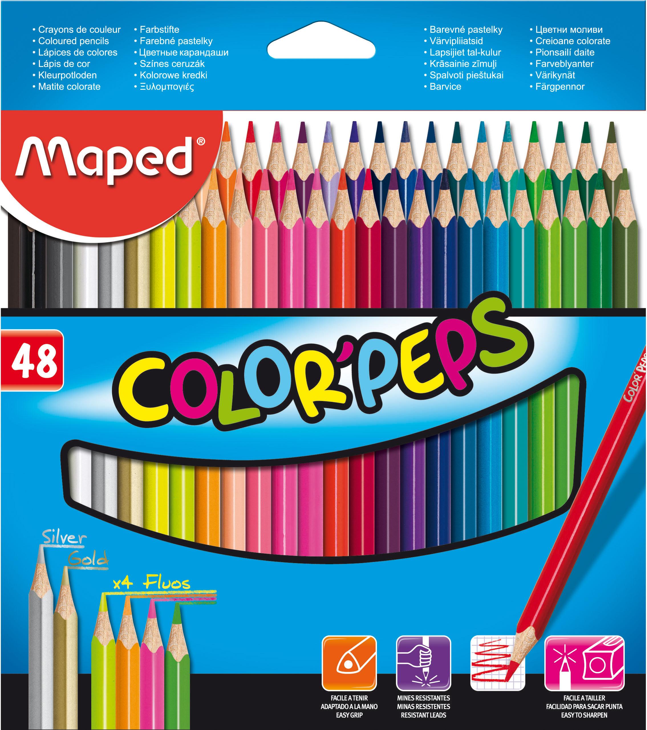 Bút Chì Màu Maped Hộp Thiết – 12 Màu