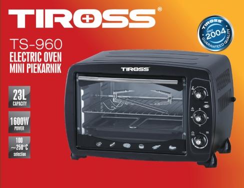 Lò Nướng Tiross 23L Thân Inox TS960