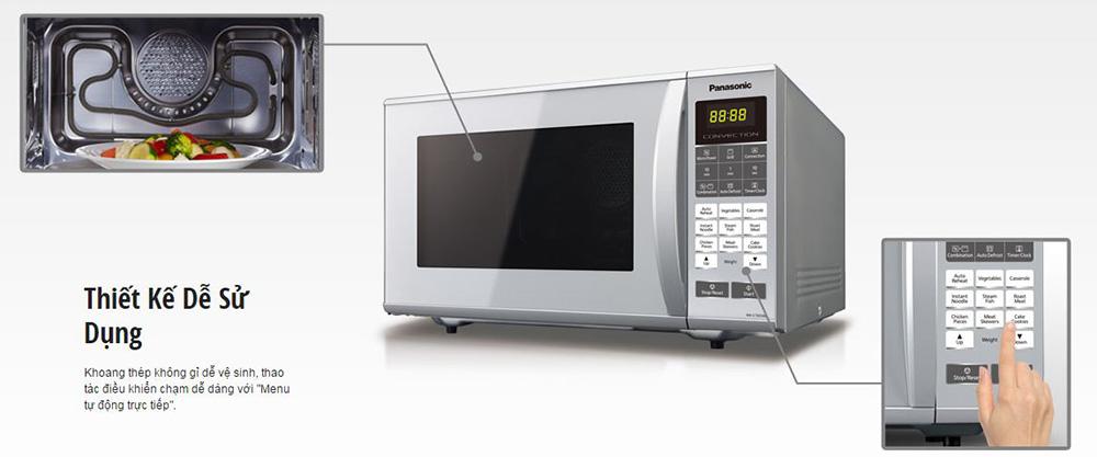 Lò Vi Sóng Điện Tử Panasonic PALM-NN-CT655MYUE