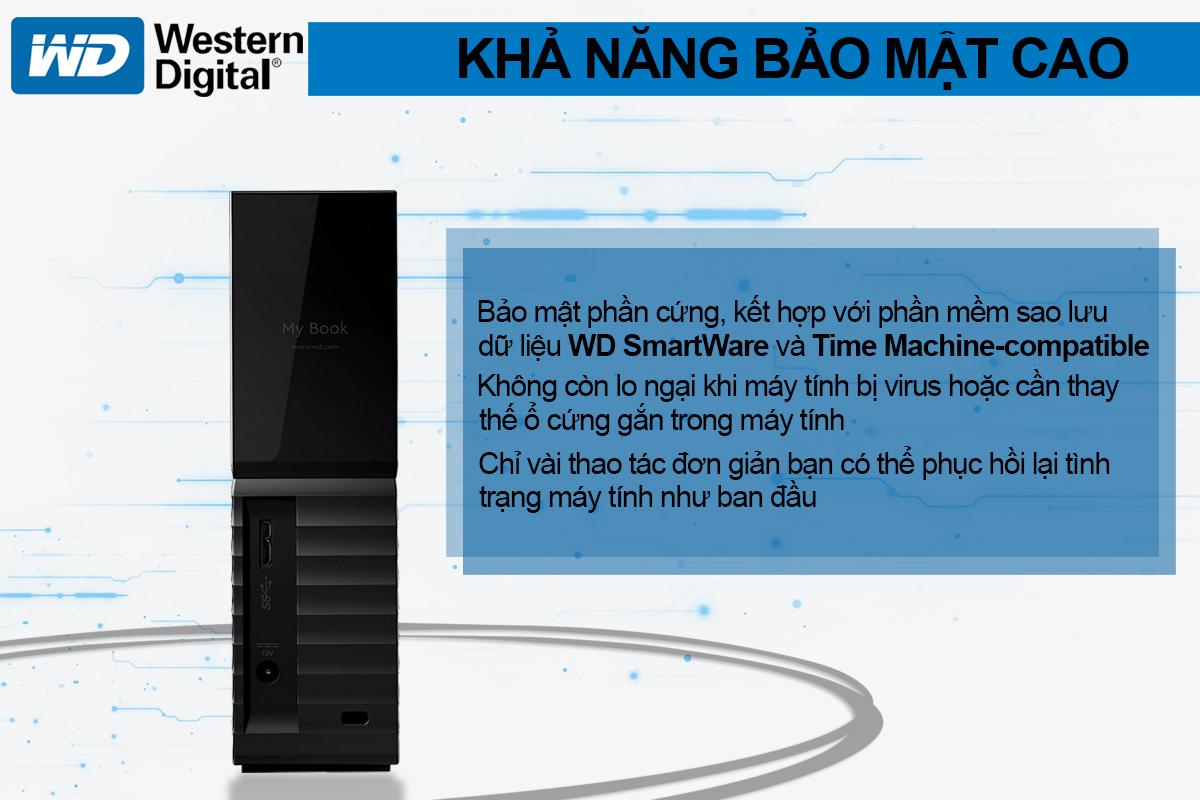 Ổ Cứng Di Động WD My Book 6TB 3.5 USB 3.0 - WDBBGB0060HBK-SESN