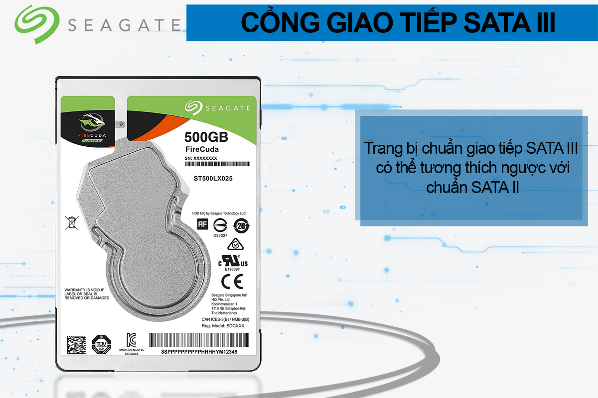 Ổ Cứng Trong Seagate FireCuda 500GB/2.5 - ST500LX025