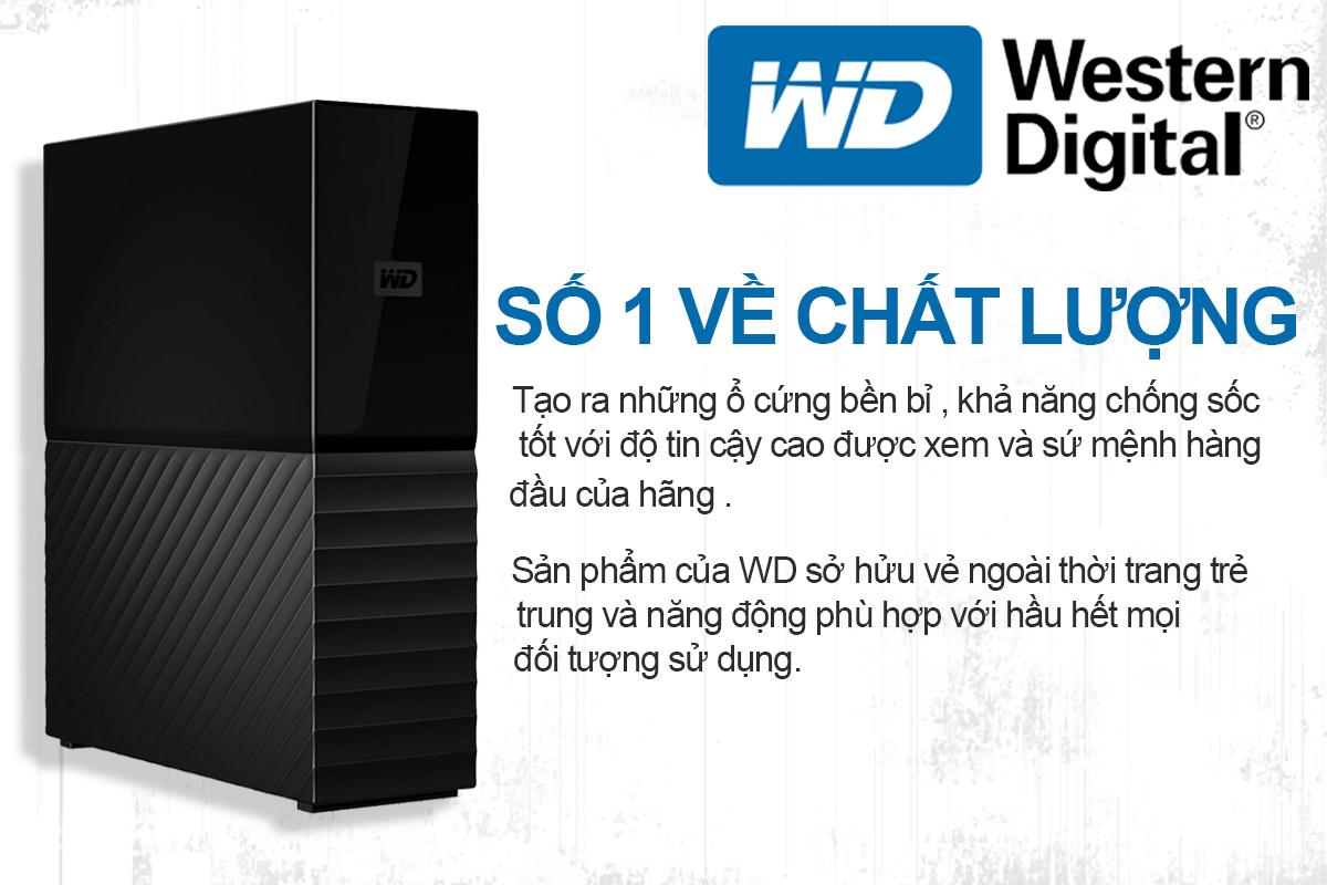 Ổ Cứng Di Động WD My Book 3TB 3.5 USB 3.0 - WDBBGB0030HBK-SESN