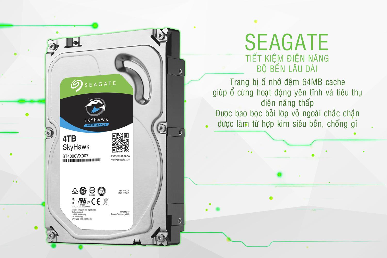 Ổ Cứng Trong Video Seagate SkyHawk 4TB/64MB/3.5 - ST4000VX007
