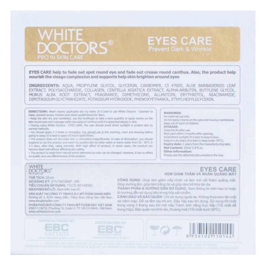 Kem Làm Mờ Vết Thâm, Bọng Mắt White Doctors Eyes Care (40ml)